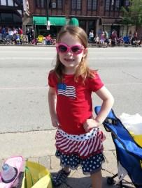 Morgan Smith ready for the parade - Merri Smith