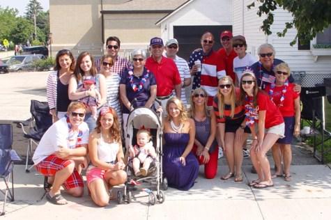 The Bullen and Trzaska families at the parade - Sue Bullen