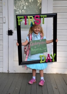 Madilyn was SO excited to start Kindergarten, she barely let me take this photo of her running off the bus! - Submitted by mom, Dawn