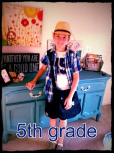 Josh Starts 5th Grade at Hough Street School - Submitted by Mom, Lynn