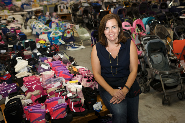 Growing Cents of Style Founder, Jenny Welsh, at her Fall, 2013 Sale - Photographed by Julie Linnekin