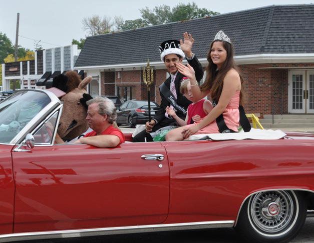 Courtney Quigley in the Barrington Homecoming Parade