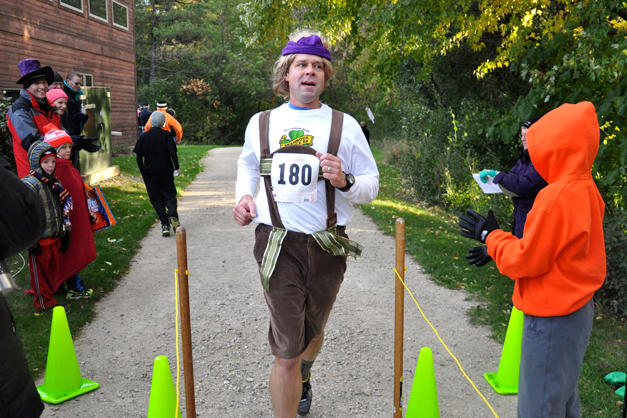 Spencer Ruhlin after Running the 2013 Barrington Trick or Treat Trot