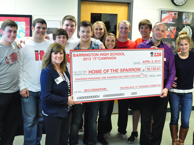 """Home of the Sparrow was """"IT"""" Club's 2012-2013 charity of choice"""