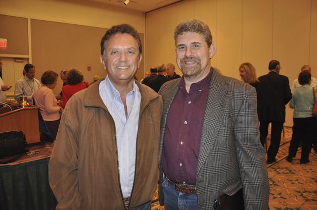 Malcolm Rosenfeld with the Barrington Breakfast Rotary and Doug Skor with the Barrington Village Association