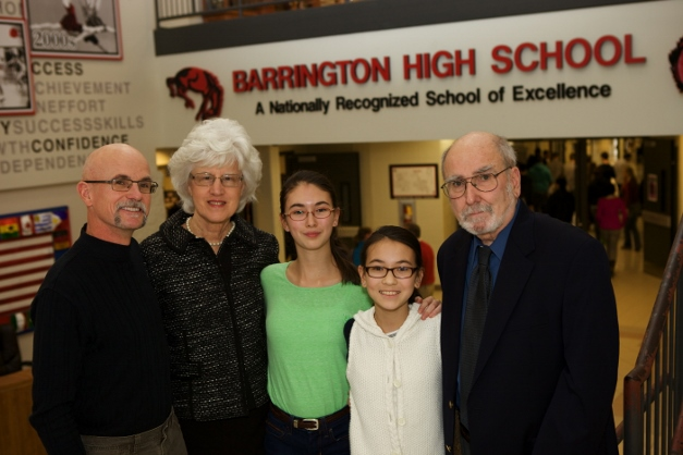 Members of the Taillon family, from left: Paul Taillon, Joyce Taillon, Audrey Taillon, Gigi Taillon, and Dennis Taillon - Photographed by Julie Linnekin