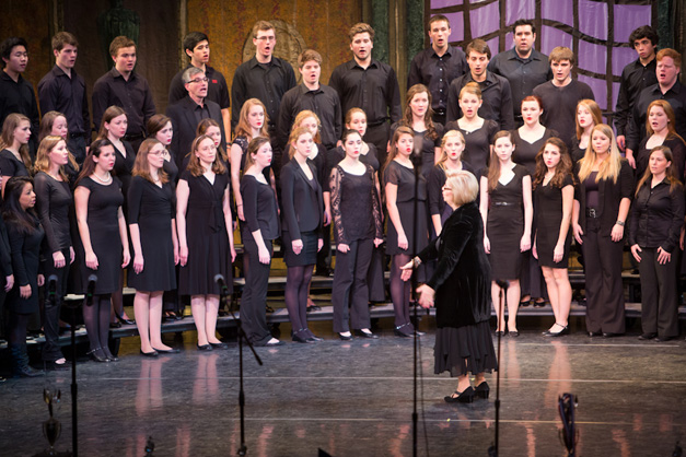 BHS Reunion Concert Honoring Retiring Choral Director, Nancie Tobison - Photographed by Sally Roeckell