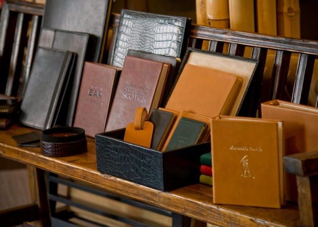 Graphic Image leather products can all be personalized. Photograph by Tim Seed