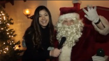 365BarringtonTV Reporter Catherine Goetze Meets Santa in Barrington