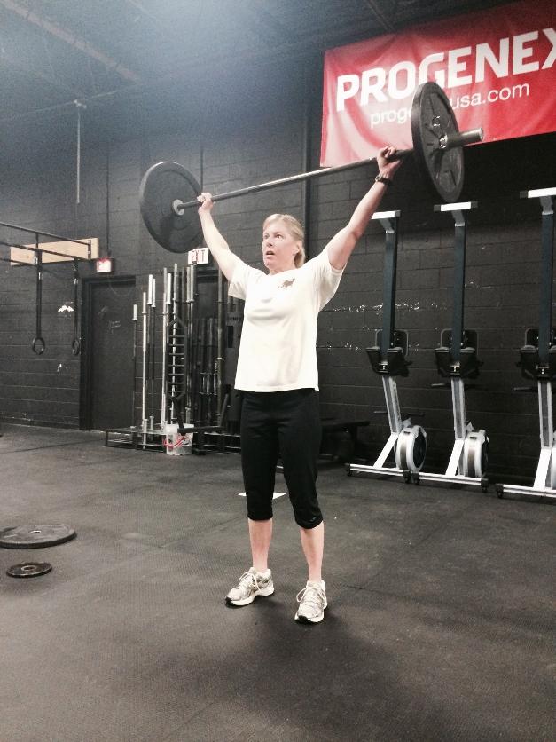 Jill Howard at her 6am CrossFit class - Courtesy of CrossFit Barrington