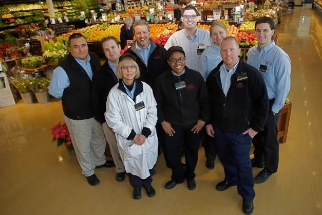 Heinen's manager Mark Vrcatnik with his department managers - Photographed by Julie Linnekin