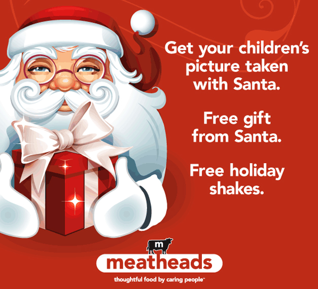 See Santa at Meatheads in Barrington on Sunday, Decmeber 21st from 12 to 2 p.m.