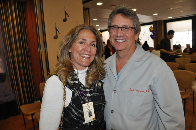 Head of Good Shepherd Hosptial Emergency Medicine, Dr. Joseph Giangrasso, M.D. with his wife Mary Giangrasso with the Auxiliary of Advocate Good Shepherd Hospital