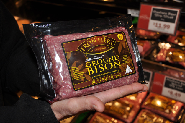 Ground Bison Available at Heinen's Grocery in Barrington