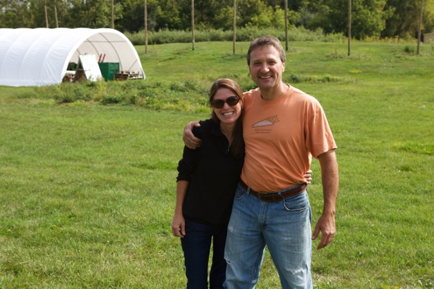 Jennifer and Mike Kainz at The Wild Onion Brewery's Hop Farm & Wormery – Photographed by Julie Linnekin