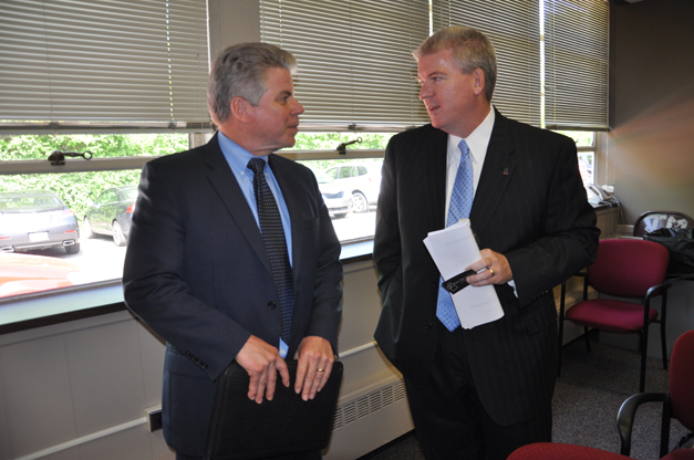 Board of Education Names Dr. Brian Harris (on right) as Next Barrington 220 Superintendent