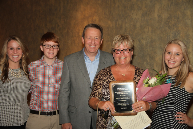 2014 Citizen of the Year Award Recipient Sue Randall with her Family - Photographed by Bob Lee