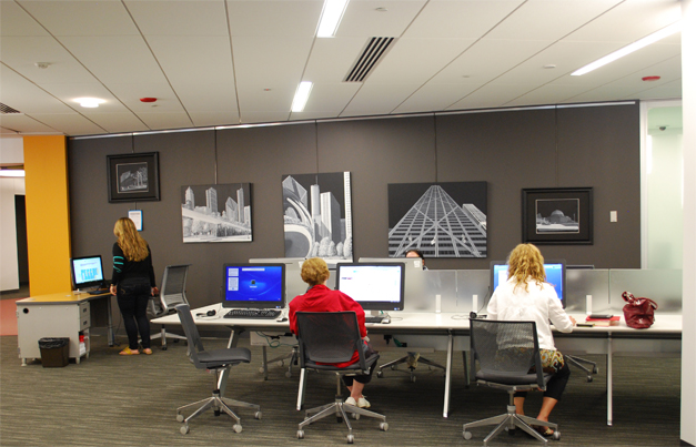The Barrington Area Library's new Gallery spaces are spread all over the library, so you can enjoy art wherever you choose to spend your time