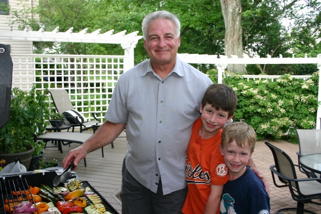 My dad, Pete Miller, with my sons Griffin and Quinn