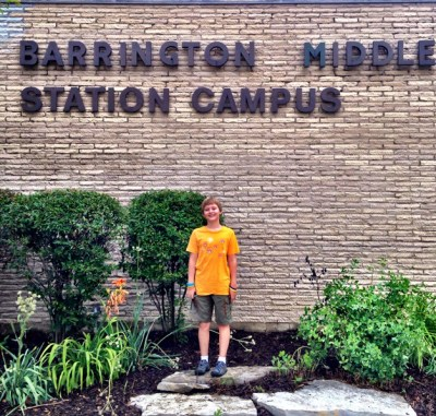 Jack on his First Day of Sixth Grade at Barrington Middle School, Station Campus - Submitted by mom, Amy Paulus