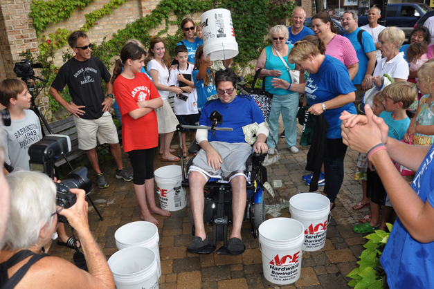 Paul Launer Takes the Barrington Ice Bucket Challenge