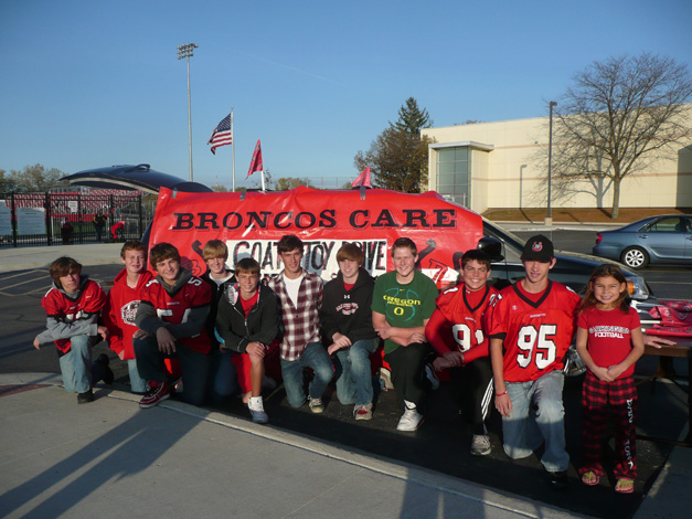 Broncos Care Coat & Toy Drive for Barrington Giving Day