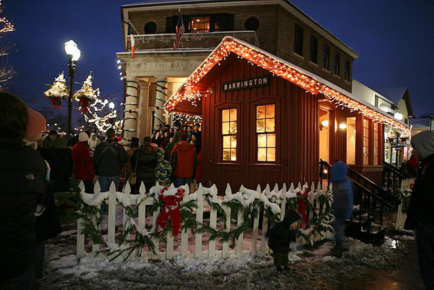 See Barrington Aglow with 6 Festivals for Santa's Arrival