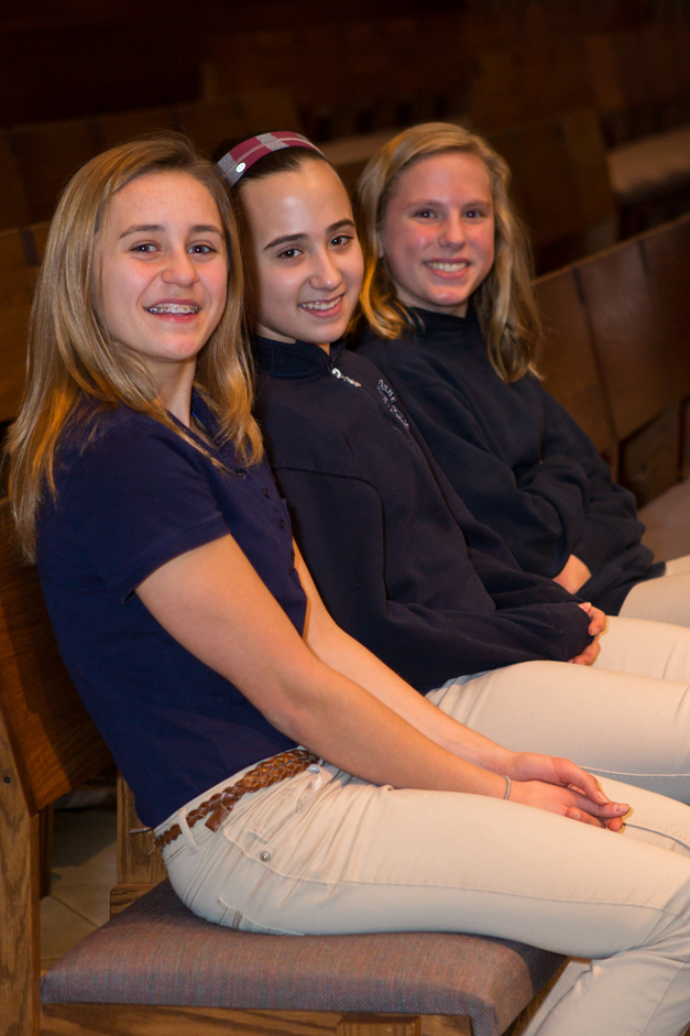 Middle school girls at St. Anne Parish School - Photographed by Sally Roeckell