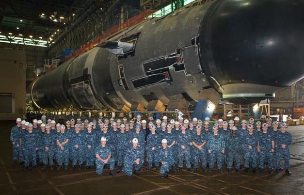 USS Illinois & Crew