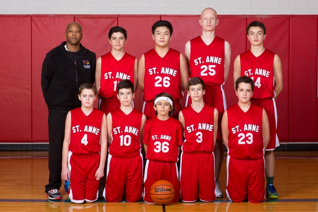 A St. Anne boys' basketball team - Photographed by Sally Roeckell