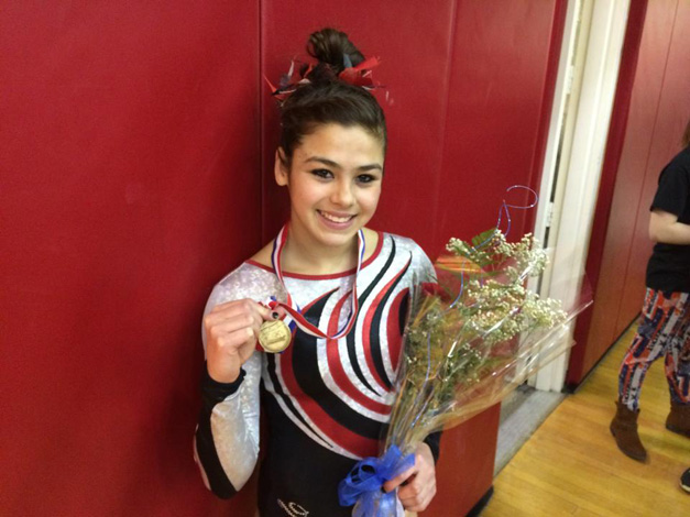 BHS Gynmast, Abby Hasanov, After First in State Win
