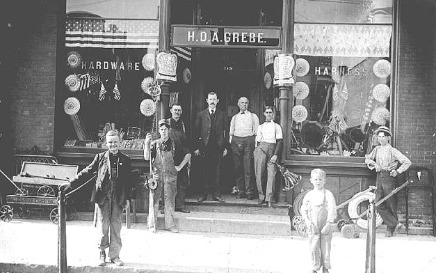Grebe's Hardware in Barrington - Photo from the Wolthausen Collection