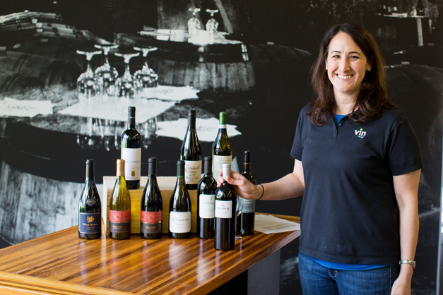 Certified Sommelier Jen Blair at Vin Chicago in Barrington - Photo by Sally Roeckell
