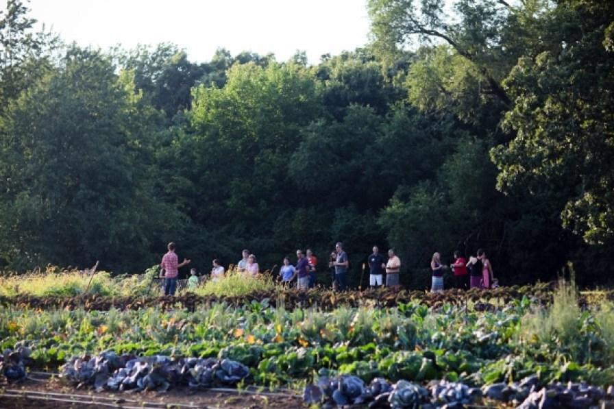 A farm tour at TGF - Photograph Courtesy of Christina Noel Photography