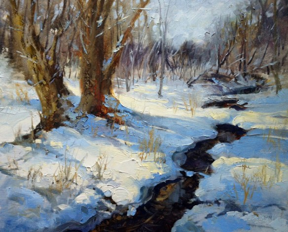 """Blue Shadows on New Snow"" by Steve Puttrich"