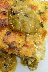 Heinen's - Hatch Chiles - New Mexico Hatch Chile Casserole with Chef Ida's Roasted Tomatillo Salsa