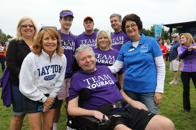 Team Kourage in the 2015 ALS Walk for Life - Photos by Bob & Anne Lee