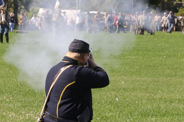 Post - Barrington Sesquicentennial Civil War Reenactment-120