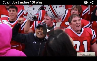 300. VIDEO: Coach Joe Sanchez Celebrates 100th Win with Broncos' Homecoming Victory