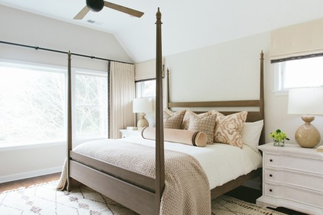 Master Bedroom: Creamy colors with subdued patterns
