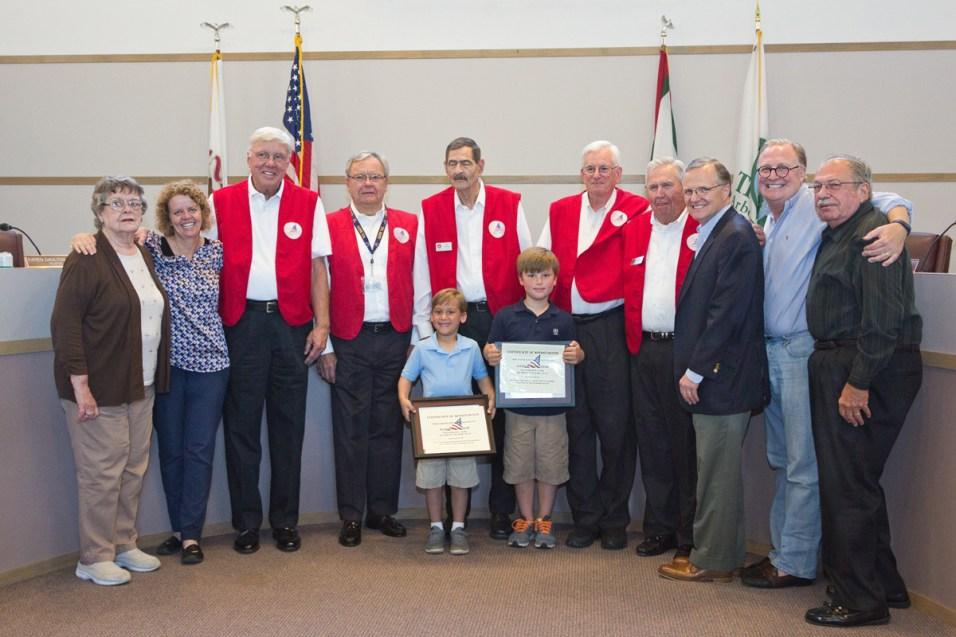 Bergstrom Brothers with Village Leaders & LBS Veterans - Photo by Judie Reynolds