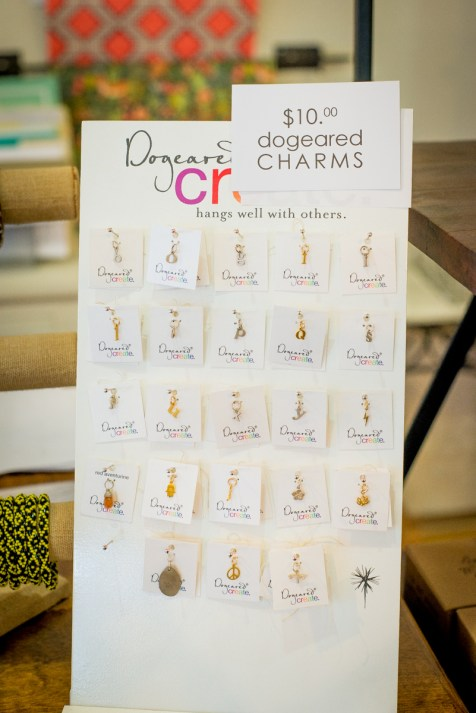 Sweet sales on select wrapping paper, prints and accessories including Dogeared charms for $10 at Angelina