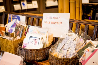 Deeply discounted Christmas items at Little Shop of Papers