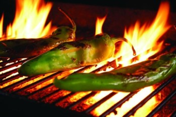 Hatch Chile on Grill