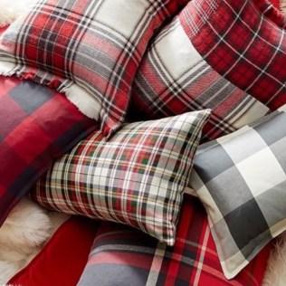 Pottery Barn Plaid Pillows