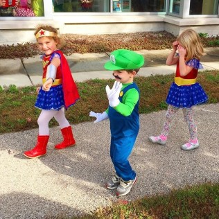 The cutest trick-or-treaters everywhere