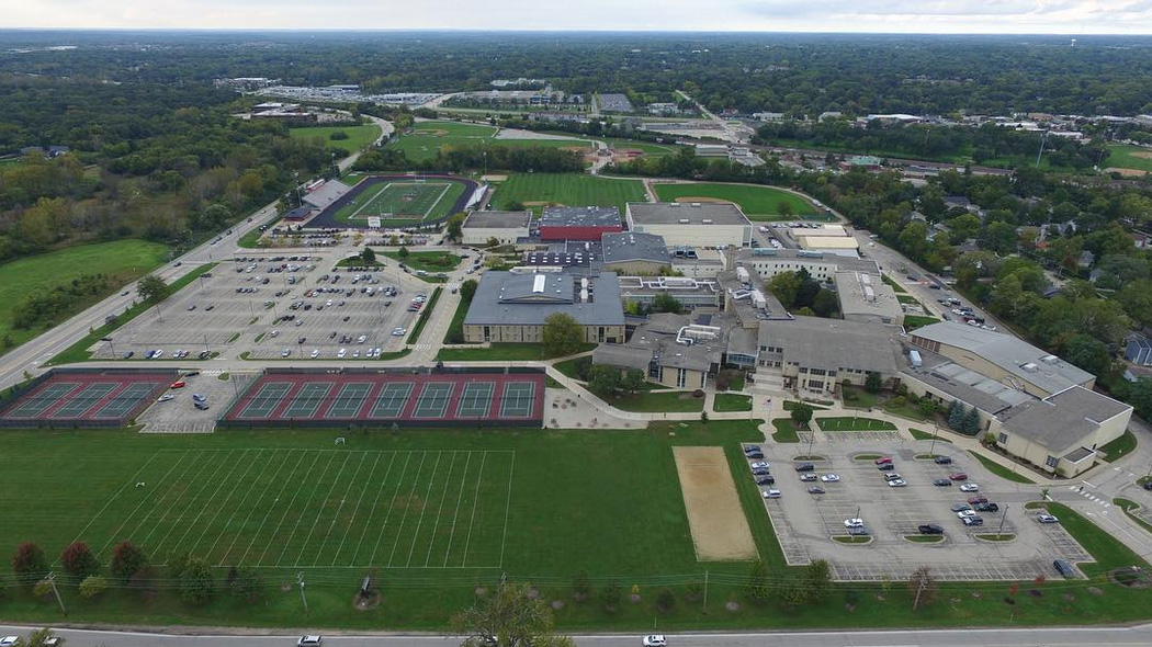 Birdseye View of Barrington HIgh School - Scott R