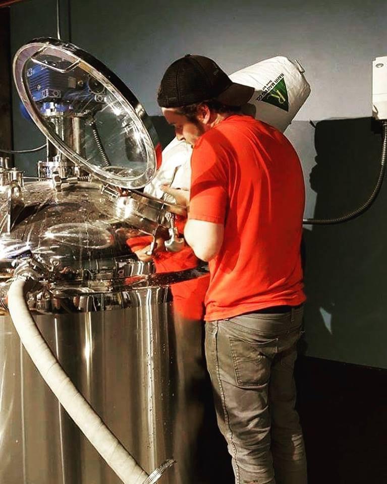 365 - Flesk brewing - James making beer