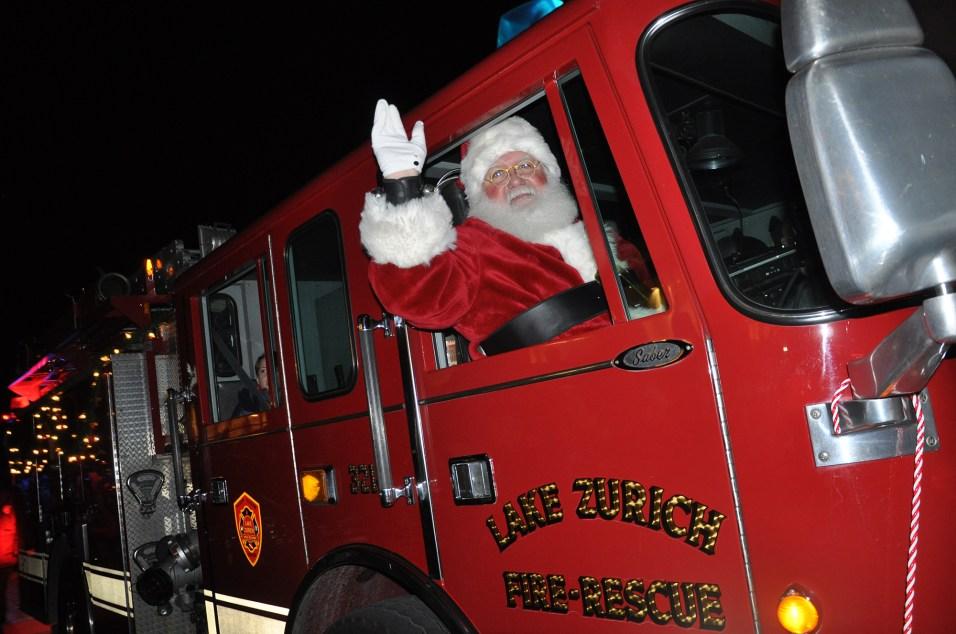 365 - Deer Park Town Center Santa Firetruck