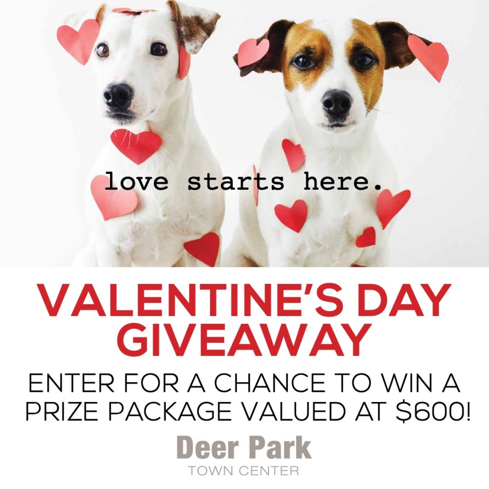 Deer Park Town Center Valentine's Day Giveaway 2020 - 3